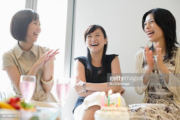 Women having birthday party