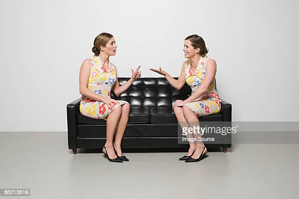 women having conversation - cloning stock pictures, royalty-free photos & images
