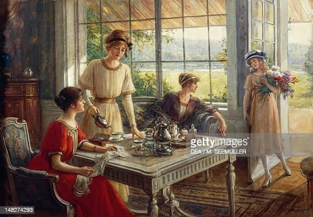 Women having tea by Albert Lynch Lima Museo De Arte