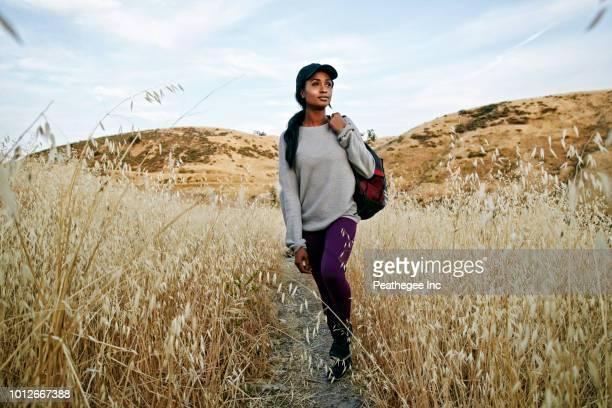 Women hiking in park
