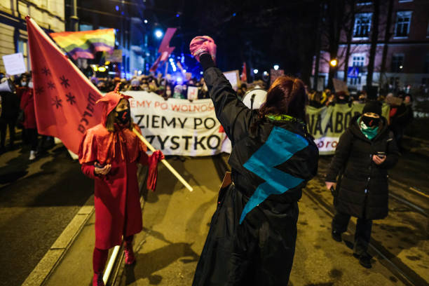 POL: Poland's Women's Day Protest Action Recalls Abortion Rights