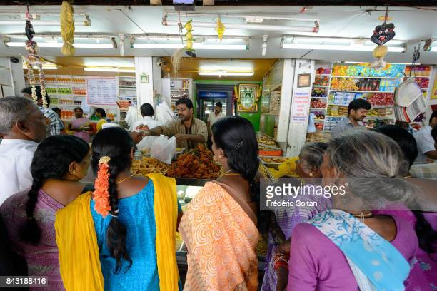 Women in a Fast food restaurant in Thanjavur on July 12 2016 in Tamil Nadu India