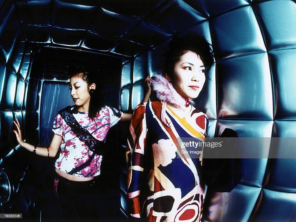 Women in a nightclub, portrait : Stock Photo