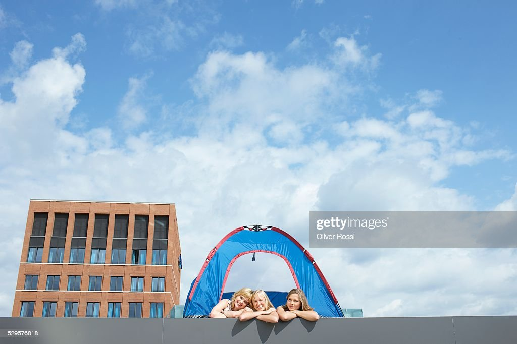 Women in a Tent : Stock Photo