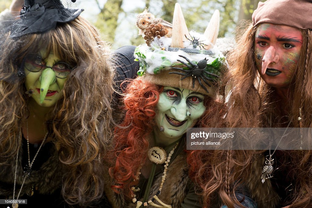 Training for Walpurgis night in the Harz Mountains : News Photo