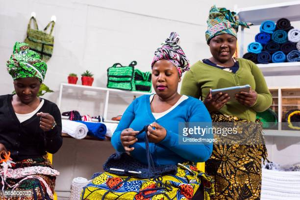 Women in a workshop learning new skills
