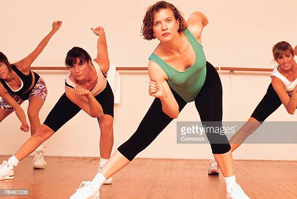 women in aerobics class - 1990~1999年 ストックフォトと画像