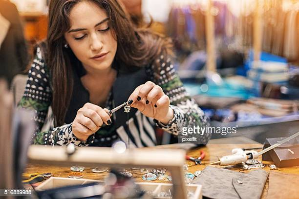 women in arts and crafts - craftsman stock photos and pictures