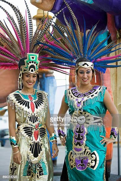 Women in aztec costumes