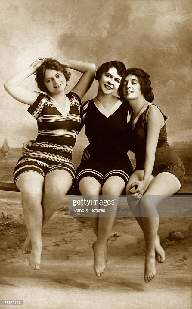Women in bathing suits : Stock Photo