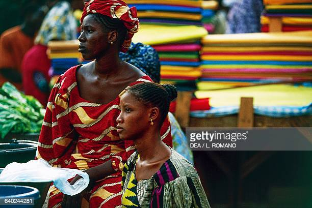 Women in colourful traditional dress Bamako Mali