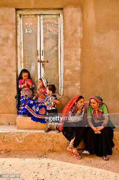 women in conversation - gujarat stock pictures, royalty-free photos & images