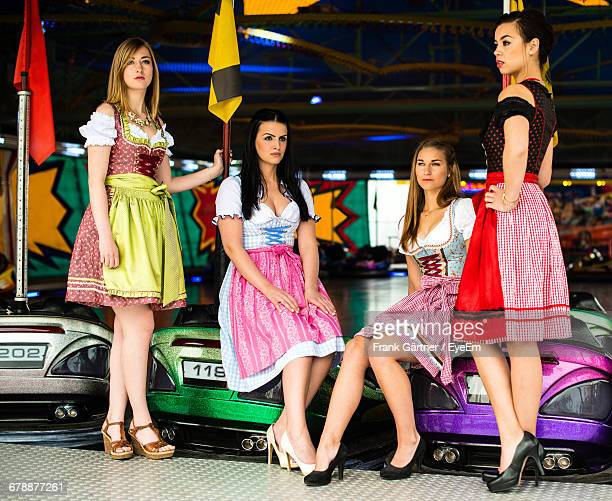 Women In Dirndl At Oktoberfest