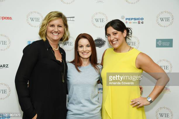 Women In Entertainment CoFounder Gretchen McCourt actress Laura Leighton and Women in Entertainment cofounder Renee Rossi attend the Women In...