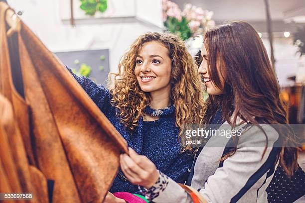 Women in fashion store