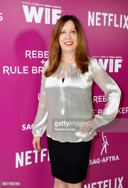 Women in Film Executive Director Kirsten Schaffer attends the Rebels and Rule Breakers Panel at Netflix FYSEE at Raleigh Studios on May 12 2018 in...