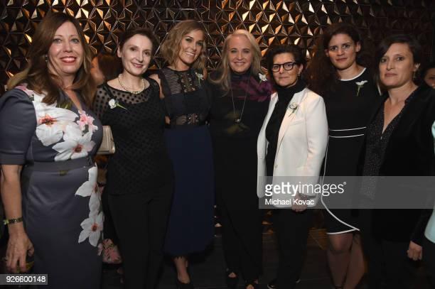Women in Film Executive Director Kirsten Schaffer Nora Twomey Dana Murray Darla K Anderson Tatiana S Riegel Katja Benrath and Rachel Morrison...