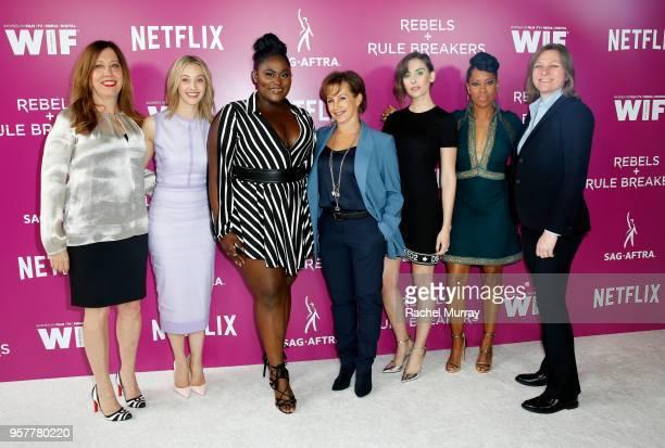 Women in Film Executive Director Kirsten Schaffer Sarah Gadon Danielle Brooks Alison Brie Regina King and Netflix VP of Original Content Cindy...