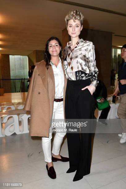 Women in Film Max Mara Face of the Future and Maria Giulia Prezioso Maramotti attend Max Mara Show during Milan Fashion Week Fall/Winter 2019/20 on...