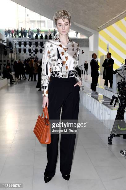 Women in Film Max Mara Face of the Future Elizabeth Debicki attends Max Mara Show during Milan Fashion Week Fall/Winter 2019/20 on February 21 2019...