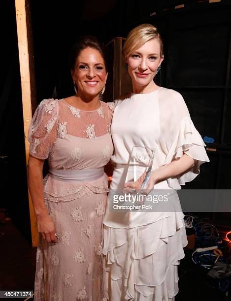 Women In Film President Cathy Schulman and actress Cate Blanchett Crystal Award for Excellence in Film award recipient attend Women In Film 2014...