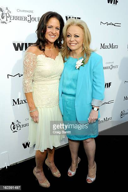 Women In Film President Cathy Schulman and actress Jacki Weaver attend the 6th Annual Women In Film PreOscar Party hosted by Perrier Jouet MAC...