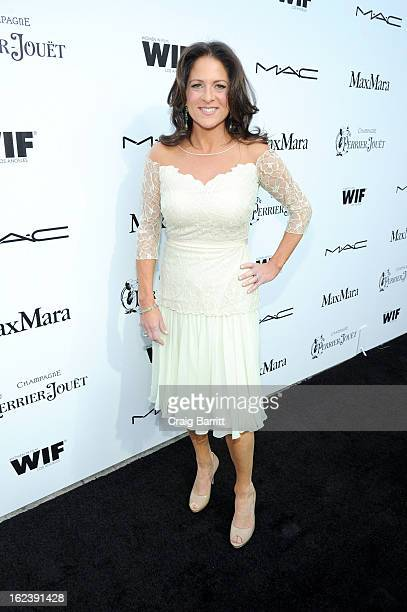 Women In Film President Cathy Schulman attends the 6th Annual Women In Film PreOscar Party hosted by Perrier Jouet MAC Cosmetics and MaxMara at Fig...