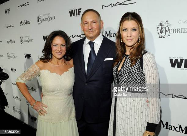 Women In Film President Cathy Schulman Group President of Estee Lauder John Demsey and actress Kate Walsh attend the 6th Annual Women In Film...