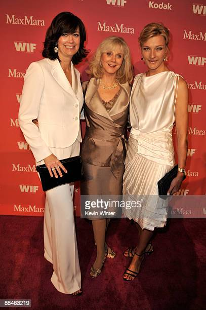 Women In Film president Jane Fleming Actress Blythe Danner and MaxMar's owner Nicola Maramotti arrive at the Women In Film 2009 Crystal And Lucy...
