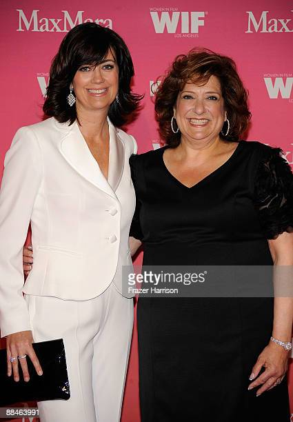 Women In Film president Jane Fleming and guest arrive at the Women In Film 2009 Crystal And Lucy Awards at the Hyatt Regency Century Plaza Hotel on...