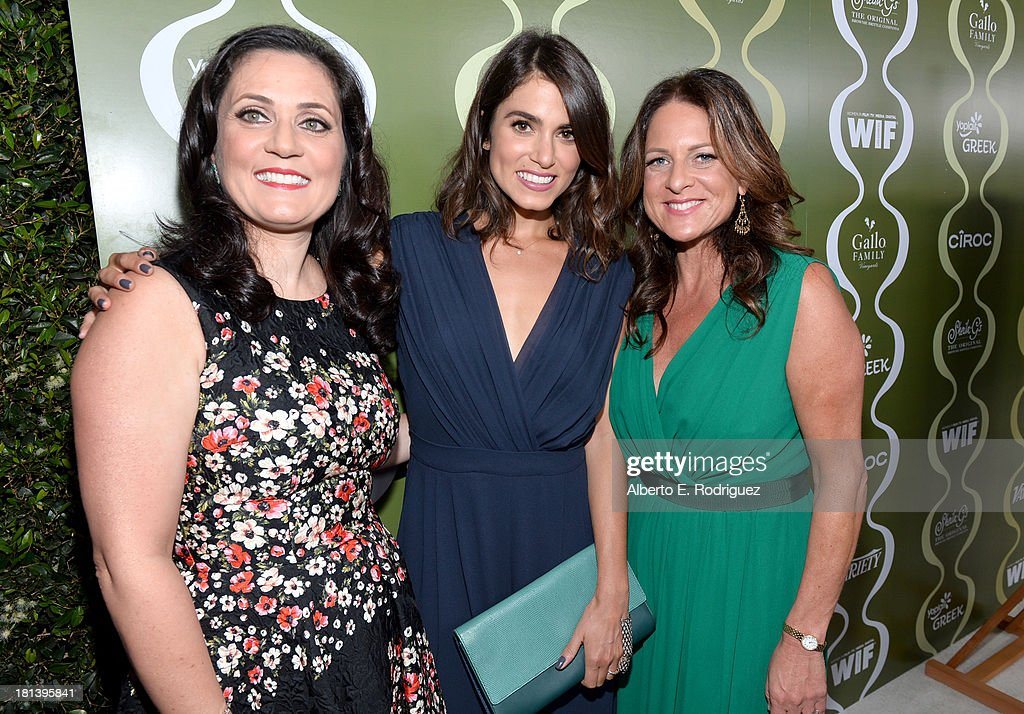 Women in Film (WIF) TV & Media Committee Chairman Danica Krislovich, actress Nikki Reed, and Women In Film (WIF) President Cathy Schulman attend Variety & Women In Film Pre-Emmy Event presented by Yoplait Greek at Scarpetta on September 20, 2013 in Beverly Hills, California.