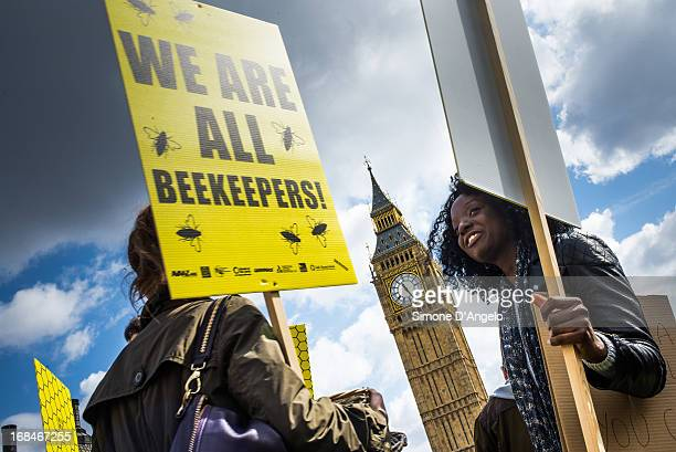 CONTENT] Women in front of Big Ben as beekeepers and environmental campaigners protest at Parliament calling on the UK to back an EU ban on...