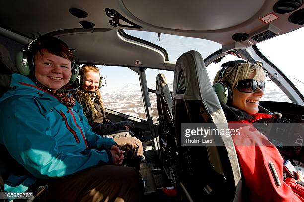women in helicopter - inside helicopter stock pictures, royalty-free photos & images
