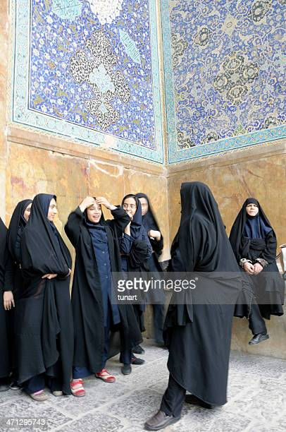 women in isfahan, iran - iranian culture stock photos and pictures