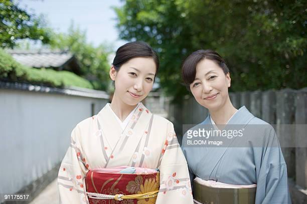 Women in kimono, portrait