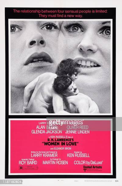 Women In Love poster US poster background from left Glenda Jackson Jennie Linden front from left Alan Bates Oliver Reed 1969