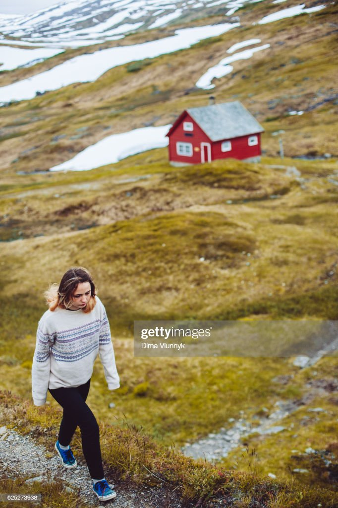 Women In Mountain : Stock Photo