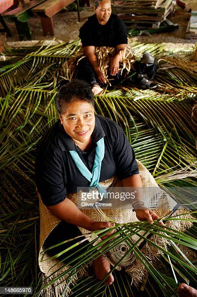 Women in mourning for death of the King of Tonga.