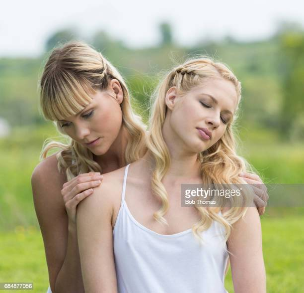 women in nature - camisole stock photos and pictures