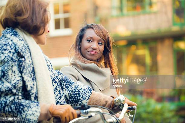 women in park - mother in law stock pictures, royalty-free photos & images