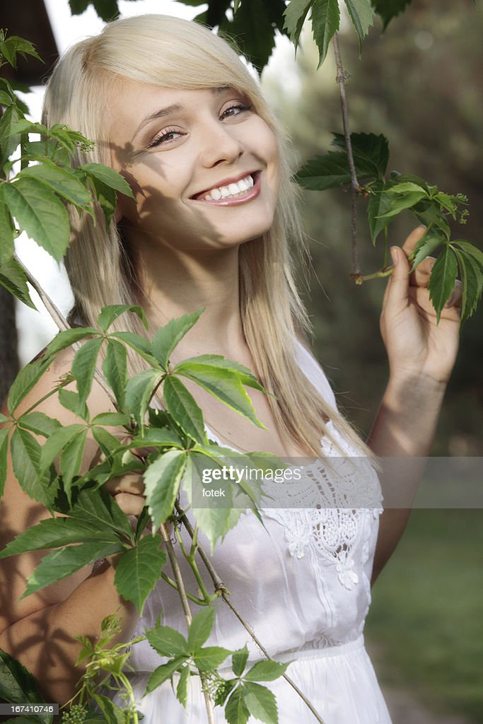 Women in plants : Stock Photo