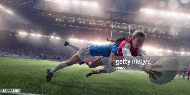 women in sport - tackling stock pictures, royalty-free photos & images
