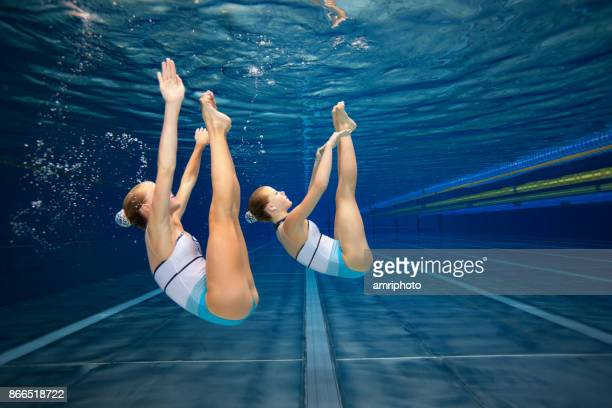 Women in Sport - synchronised swimming underwater shot