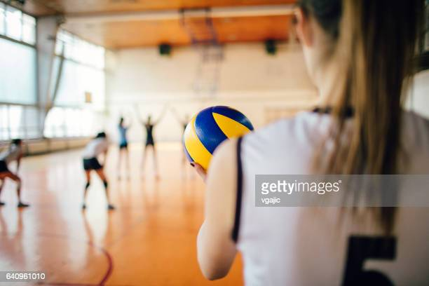 Active Young Women Volleyball Player Sport Stock Vector: Volleyball Stock Photos And Pictures