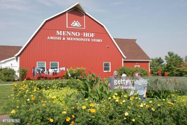 Women in the garden at MennoHof MennoniteAmish Visitors Center