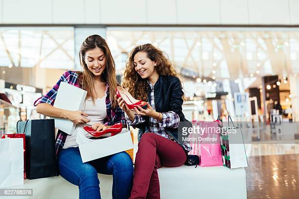 Women in the shopping mall