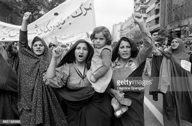 Women in the streets during the May 1st demonstration.