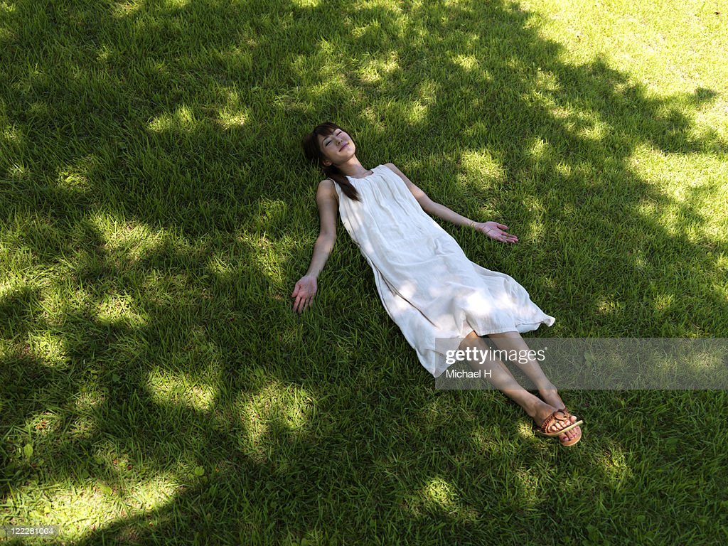 Women in the woods : Stock Photo