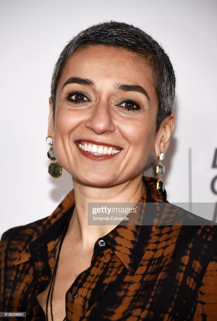 Women in the World Editor at Large Zainab Salbi arrives at the 2018 Women In The World Los Angeles Salon at NeueHouse Hollywood on February 13, 2018 in Los Angeles, California.