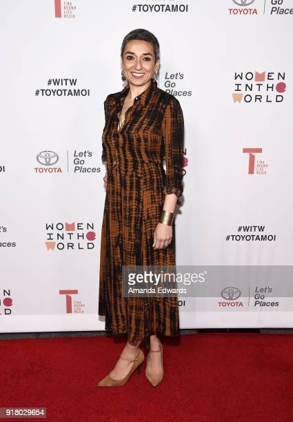 Women in the World Editor at Large Zainab Salbi arrives at the 2018 Women In The World Los Angeles Salon at NeueHouse Hollywood on February 13 2018...